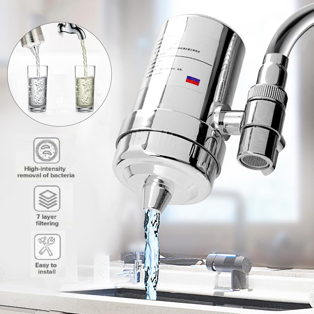 Faucet Water Purifier Tap Water Filter Kitchen Faucet Washable Charcoal Percolator Faucet Filter Purifier Water Tap Purifier