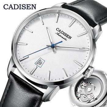 CADISEN Mechanical Watch Men Top Brand Luxury Luminous Stainless steel Business Wrist Men Automatic Watches NH35A Japan movement 1