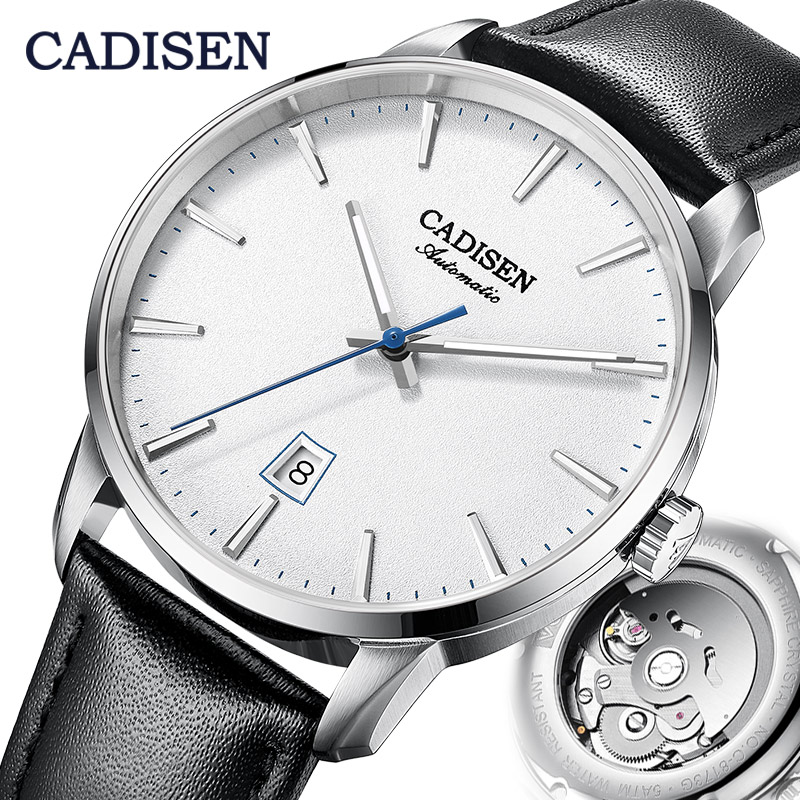 CADISEN Mechanical Watch Men Top Brand Luxury Luminous Stainless Steel Business Wrist Men Automatic Watches NH35A Japan Movement
