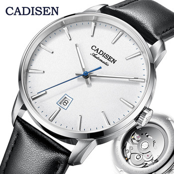 CADISEN Mechanical Watch Men Top Brand Luxury Luminous Stainless steel Business Wrist Automatic Watches NH35A Japan movement - discount item  49% OFF Men's Watches