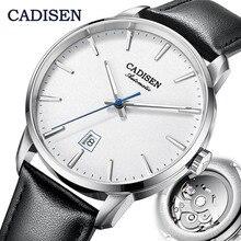 CADISEN montre mécanique hommes haut de gamme marque de luxe lumineux en acier inoxydable affaires poignet hommes montres automatiques NH35A japon mouvement