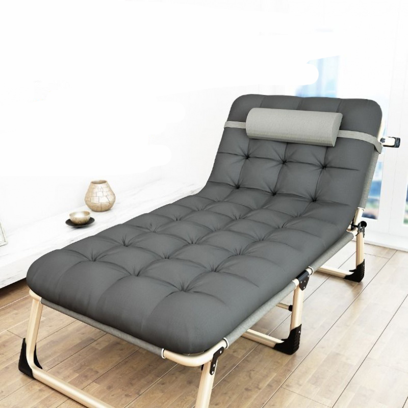 Folding Bed, Single Bed, Nap, Simple Family Nap Bed, Escort Portable Multi-functional Military Bed Office Reclining Chair