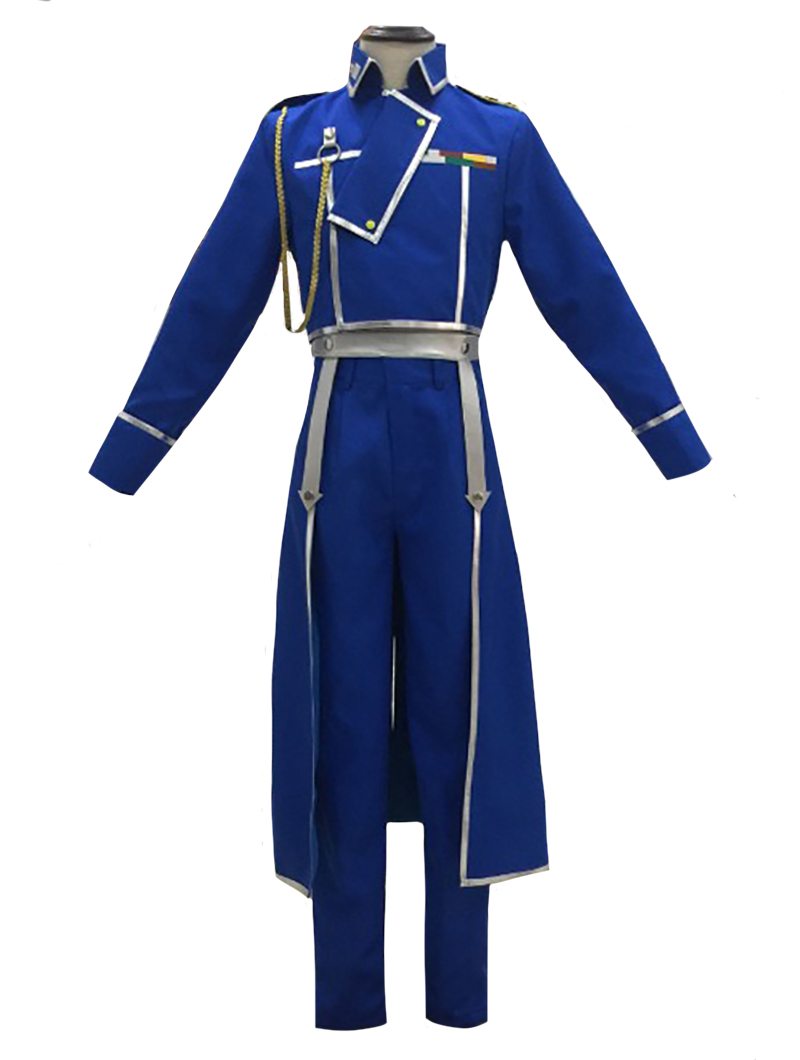 Full Metal Alchemist Roy Mustang Cosplay Costume Military Uniform Suit