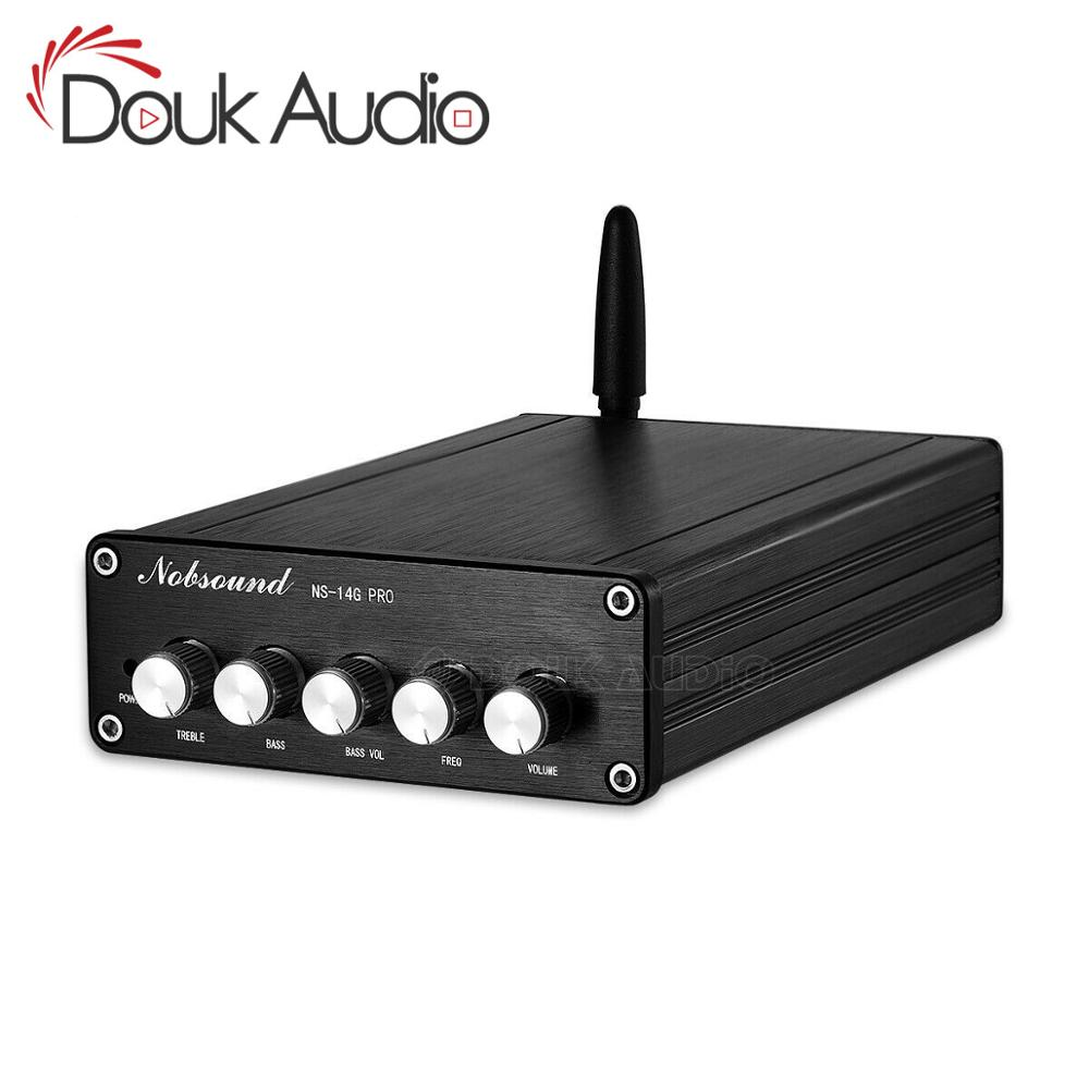 Douk audio Mini <font><b>2.1</b></font> Channel Bluetooth 5.0 TPA3116 Digital Power <font><b>Amplifier</b></font> Class D Stereo Audio Amp <font><b>200W</b></font> image