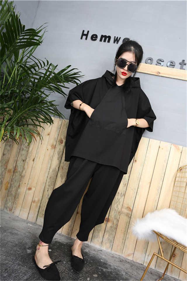 Musim Gugur Baru Ukuran Besar Pakaian Latihan Yg Hangat Hooded Tops + Celana Harem Wanita Perapi Pakaian 2 Sepotong Set Celana Wanita Jubah Setelan Celana AA261S30
