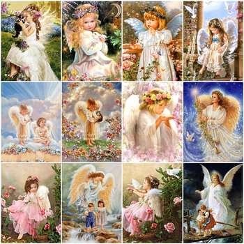 MomoArt DIY Full Kits Diamond Painting Mosaic Angel Square Drill Needlework 5D Embroidery Sale Portrait Wall Art