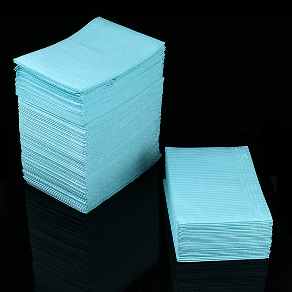 125pcs Disposable Tattoo Bibs Tattoo Table Covers Clean Pads Patient Dental Napkins Beauty Tattoo Accessories Tattoo Clean Pads