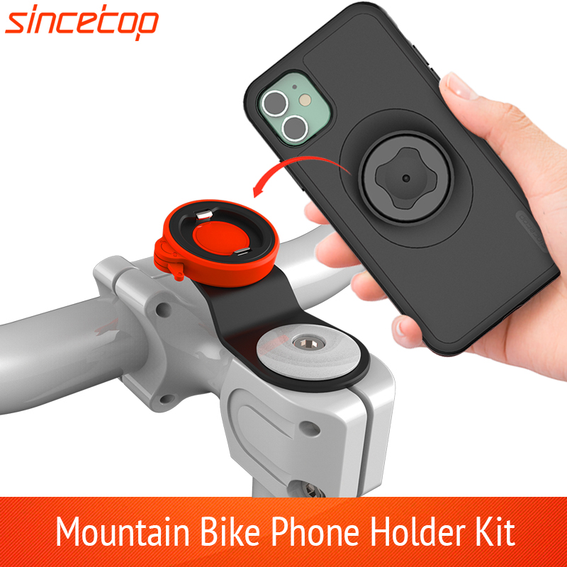 Mountain Bike Phone holder For iPhone 11 Pro XsMax 8plus 7s 6 Bicycle Handlebar Mount Cell Phone Bag  Stand With Shockproof Case|Phone Holders & Stands| |  - title=