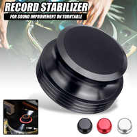 Black/Silver/Red Turntables Stabilizer Clamp LP Vinyl Turntables Disc for Record Stabilizer Weight Vibration Balanced