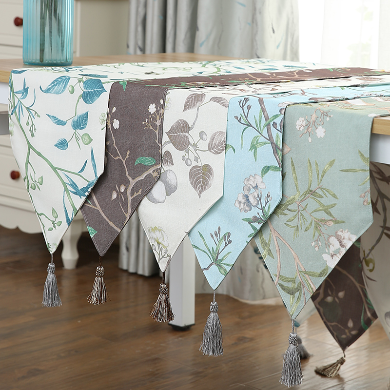 New Chic Rectangular Dining Flag Table Cloth Linen Table Runner Shoe Cabinet TV Cabinet Chemin De Table Tafelloper Arpillera L01