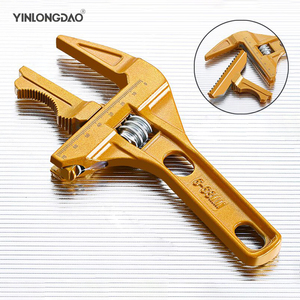 Multi-function Adjustable Wrench Aluminium Alloy large Open Wrench Universal Spanner Repair Tool for Water Pipe Screw Bathroom