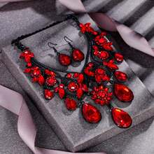 Tuliper цветочное колье ожерелье серьги роковое женское Свадебный