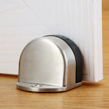stainless steel dual-use Door Stopper Door Holders Catch Floor Mounted Nail-free Door Stops Sticker door stop