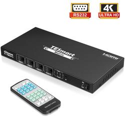 DHL شحن مجاني 4x4 HDMI مصفوفة 4 في 4 خارج مفتاح تبديل HDMI مجزأ الترا HD 4K مصفوفة HDMI 4 منافذ RS232 LAN دون HDCP