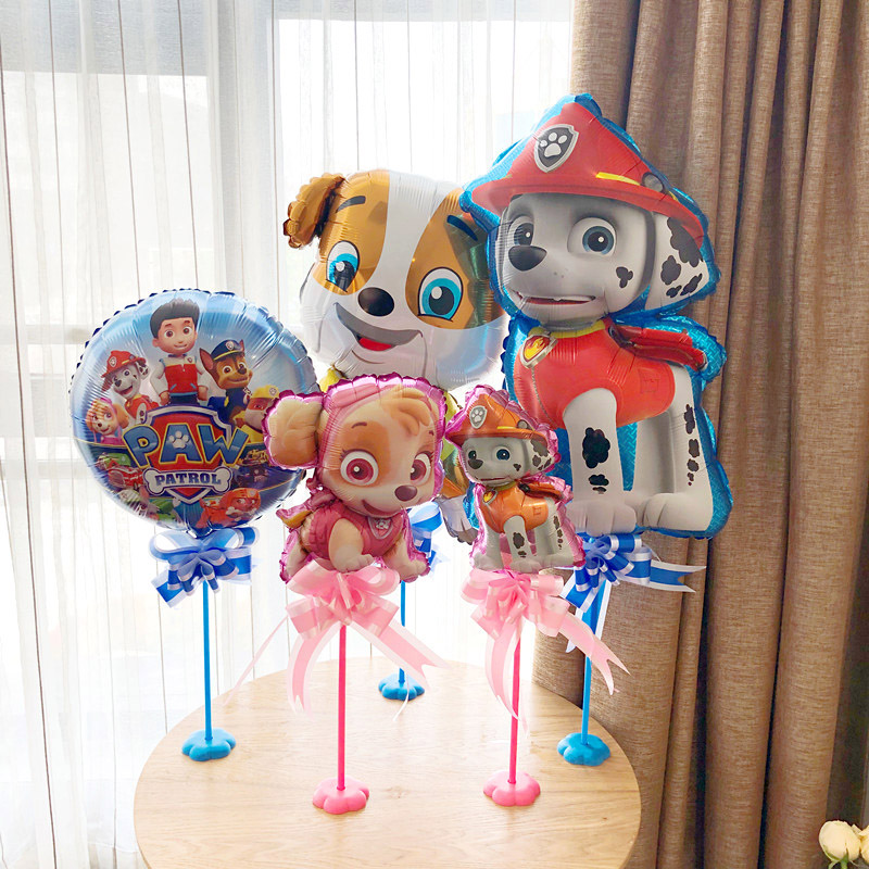 PAW PATROL Balloon Table Floating Baby Birthday Party Decorations Holiday Celebration Table Arrangement Cartoon Figure Balloon