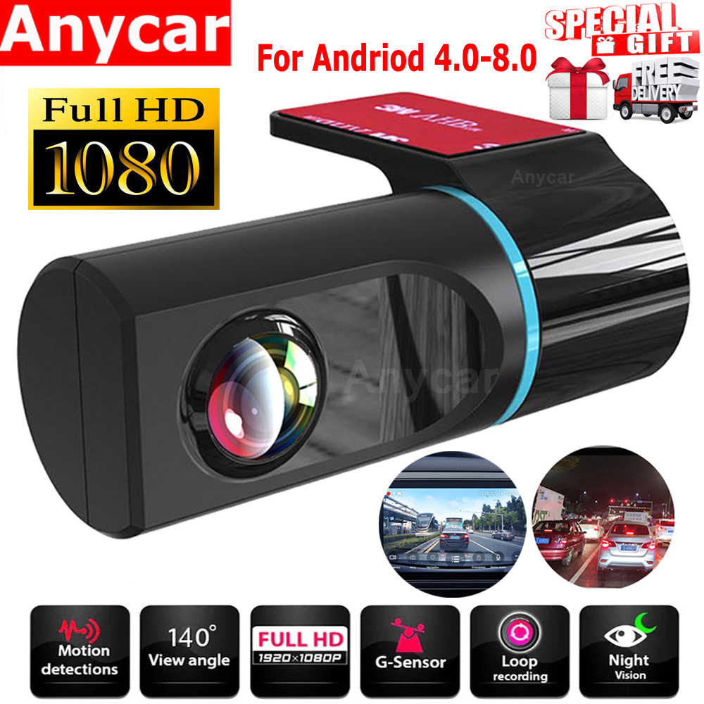 1080P Hd Auto Dvr Camera Android Usb Auto Digitale Video Recorder Camcorder Verborgen Nachtzicht Dash Cam 140 ° groothoek Griffier