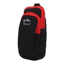 MagiDeal Профессиональный неопреновый двойной карман на молнии, чехол для телефона, сумка для пешего туризма, скалолазания, спорта, L/S размер, че...