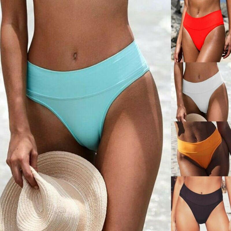 Sexy Womens Hot Swimming Trunks One-Piece Bikini Shorts Brief Thong Bottom Brazilian High Waist Swimwear Beachwear Bathing Suit