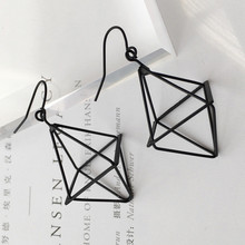 Personality Geometric Lantern Pyramid Three - Dimensional EarringsTassel Earring Big Chandelier Earrings Jewelry Gifts(China)