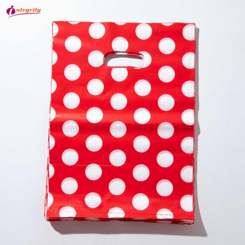 INTEGRITÀ 15*20 cm/20*25 centimetri 10pcs Dei Monili Sacchetti di Plastica pacchetto regali di Nozze boutique regali shopping imballaggio Sacchetti della Maniglia di plastica