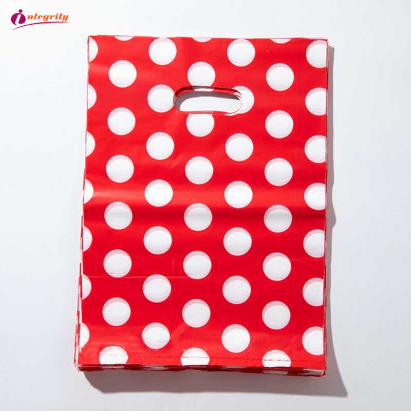 INTEGRITY 15*20cm/20*25cm 10pcs Jewelry Plastic package Bags Wedding gifts boutique gifts shopping packaging plastic Handle Bags