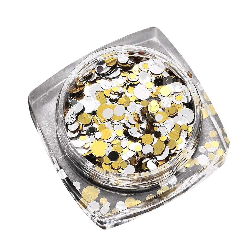 Hot Fashion 1 Box 1.5mm-3mm Mixed Mini Round Thin Nail Art Glitter Paillette