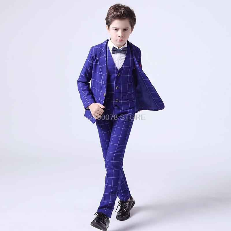 Boys Suits For Weddings Kids Blazer Suit For Boy Costume Enfant Garcon Mariage Jogging Garcon Blazer Boys British styleTuxedo L2 2