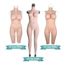 DG Cup pełne silikonowe rajstopy gumowe body Crossdress męski na żeński Transsexual Cosply Transgender fałszywe cycki formy piersi Tit