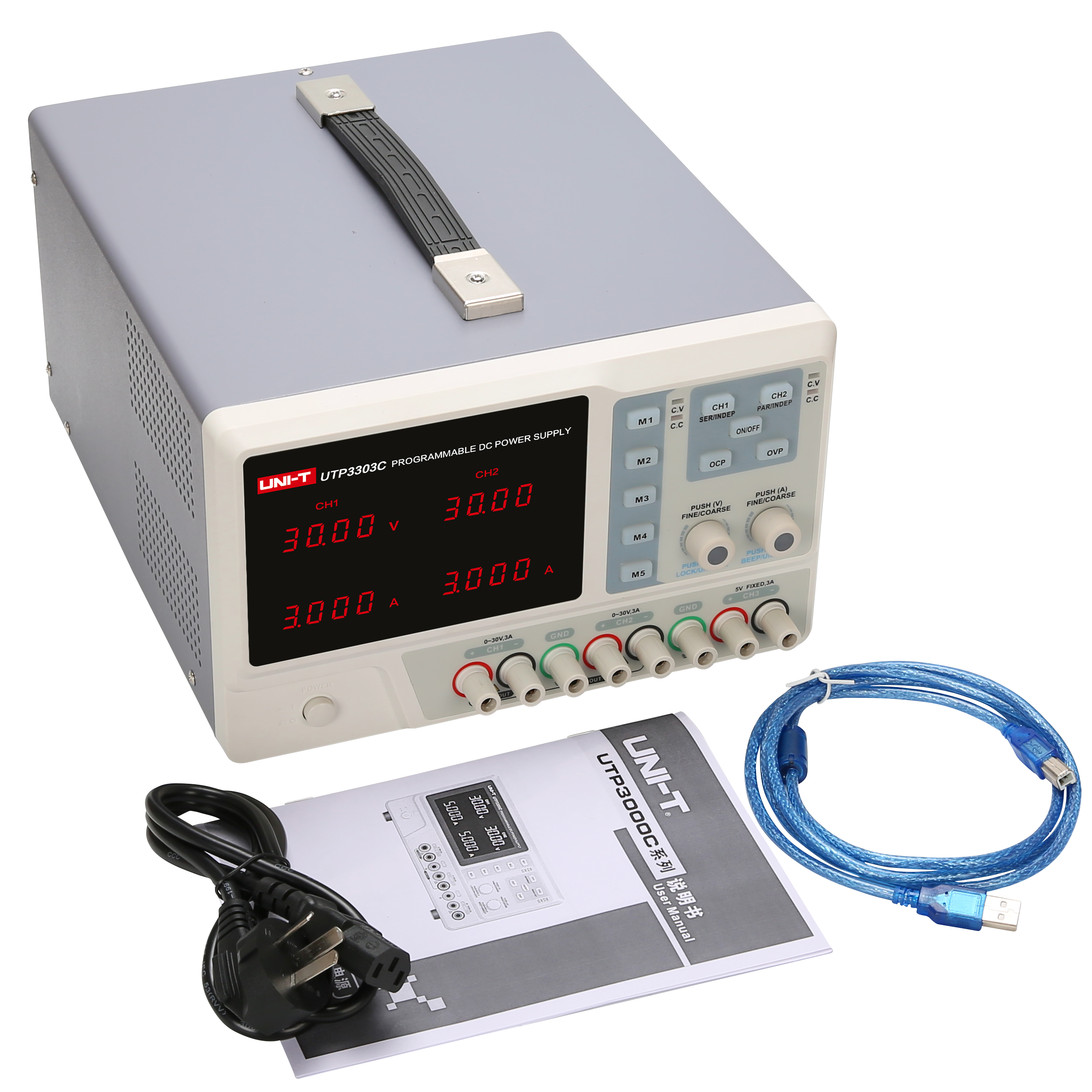 UNI-T 4-output USB Charging Programmable Linear DC Power Supply 5