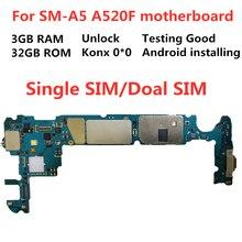 Материнская плата для Samsung GALAXY A5 разблокированная материнская плата A520F материнская плата 32 Гб логические платы