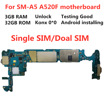 SamuelT Original motherboard for Samsung 2017 GALAXY A5 Unlocked mainboard A520F motherboard 32GB Logic Board 100% working 17 820 2059 a 2006 ma611ll a 661 4235 t7600 2 33ghz x1600 256mb motherboard logic board for imac a1212 2006