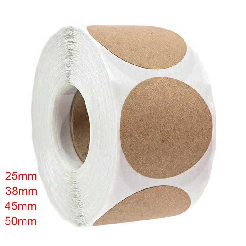 100/500 шт крафт Бумага настенные наклейки круглые пустые этикетки для украшения ручной работы, подарок тег Бумага