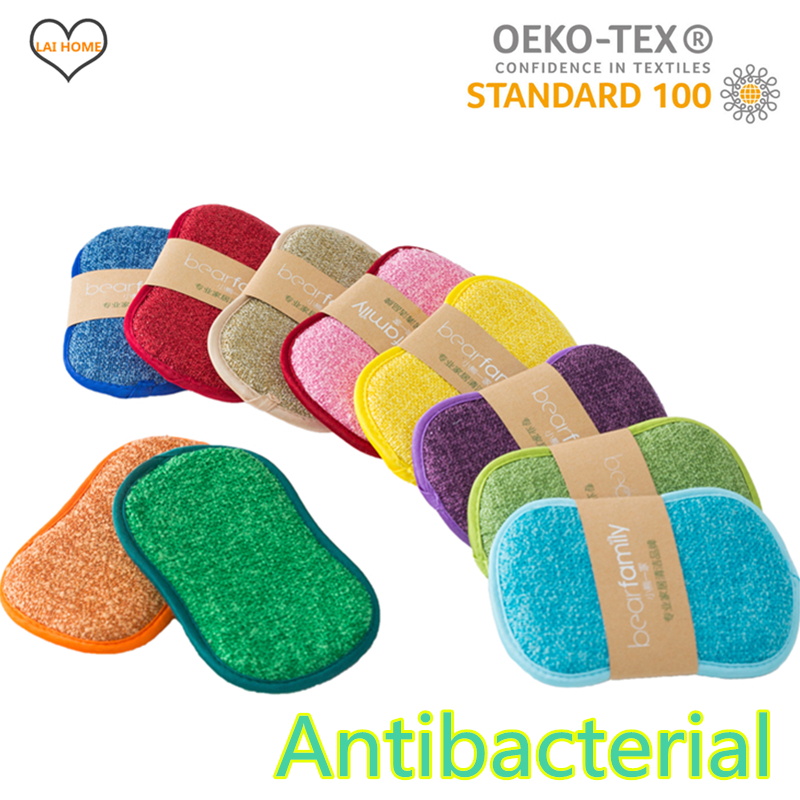 10PCS Cleaning Microfiber Sponge for Dishwashing Kitchen Bathroom Rust Removing Clean Cloth Eraser Eco friendly Magic Sponge Diy