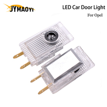 JYMAOYI 2 PCS/lot LED Car Door Light Projector Welcome light lamp Atmosphere Car decoration for Opel Insignia 2008-2019 LED sencart 3 led rgb light motorcycle car decoration handle lamp silver black 3 x lr44 2 pcs