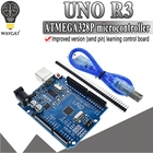 modified version One set UNO R3 CH340G+MEGA328P Chip 16Mhz For Arduino UNO R3 Development board + USB CABLE