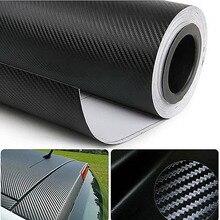 1 pz 30cm X 127cm 3D fibra di carbonio Texture opaca autoadesivo vinile adesivo auto avvolgere adesivo decalcomania foglio di pellicola spedizione gratuita