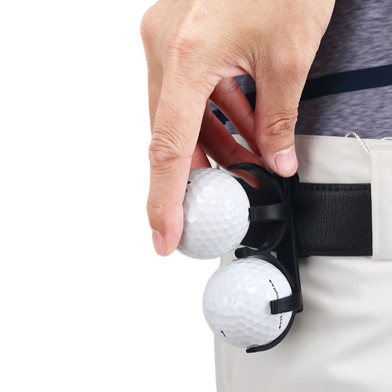 1pcs  Durable Golf Ball Holder Clip Prop Golfing Sporting Training Accessory Plastic Black