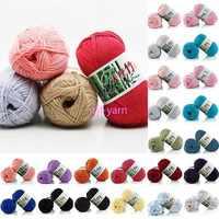 De pañuelo nuevo de 6PLY suave 62 colores de 50g de algodón de bambú de leche mucho de hilo de algodón 180 metros Crochet KnittingWholesale