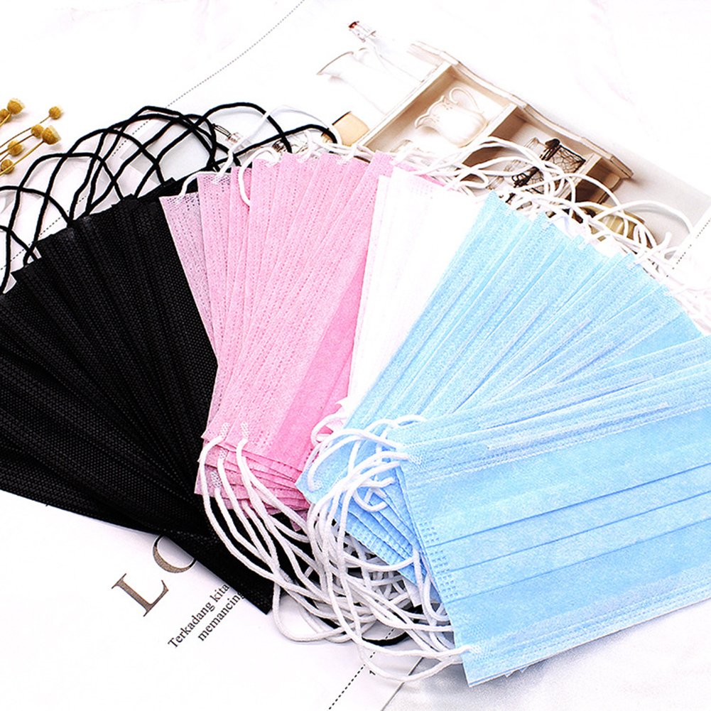 10P Disposable Face Mask 3Layer Medical Dental Earloop Activated Carbon Anti-Dust Face Surgical Masks