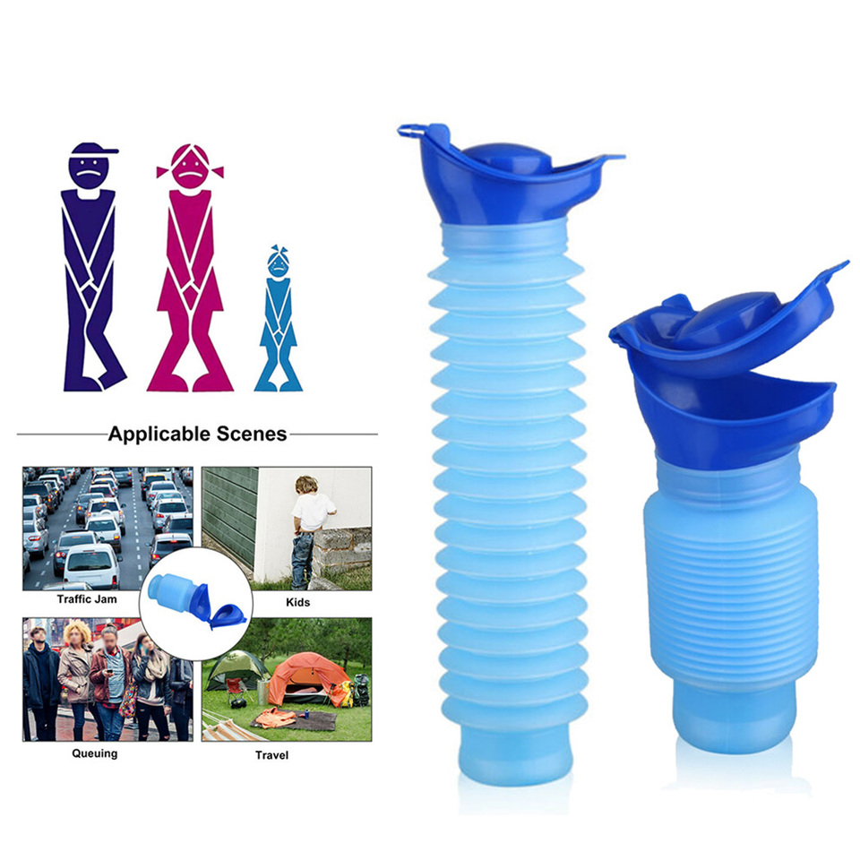 Leakproof Collapsible Ergonomic Reusable WSERE Portable Kids Male Female Urine Pee Bottle Emergency Urinal Urination Device for Travel or Outdoor