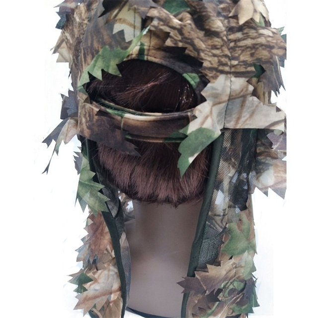 Outdoor Army Traning Camouflage Face Mask Hunting Hood Cap Head Net Eyehole Opening Scarf Hunting Ghillie Suits Accessories 5