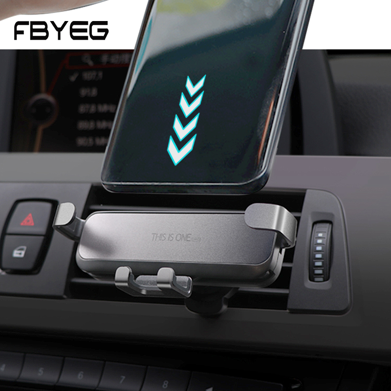 FBYEG NEW Car Phone Holder Car Air Vent Mount Holder Mini Gravity Stretch Invisible Air outlet No Magnetic Mobile Phone Holder