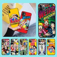 NBDRUICAI Anime Archie's Weird Mysteries DIY Painted Bling Phone Case for iPhone 11 pro XS MAX 8 7 6 6S Plus X 5S SE XR case nbdruicai japanese fashion brand diy painted bling phone case for iphone 11 pro xs max 8 7 6 6s plus x 5s se 2020 xr case