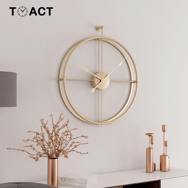 Image 3 - Wrought Lron Wall Clock Home Decoration Office Large Wall Clocks  Mounted Mute Watch European Modern Design Hanging WatchesWall Clocks