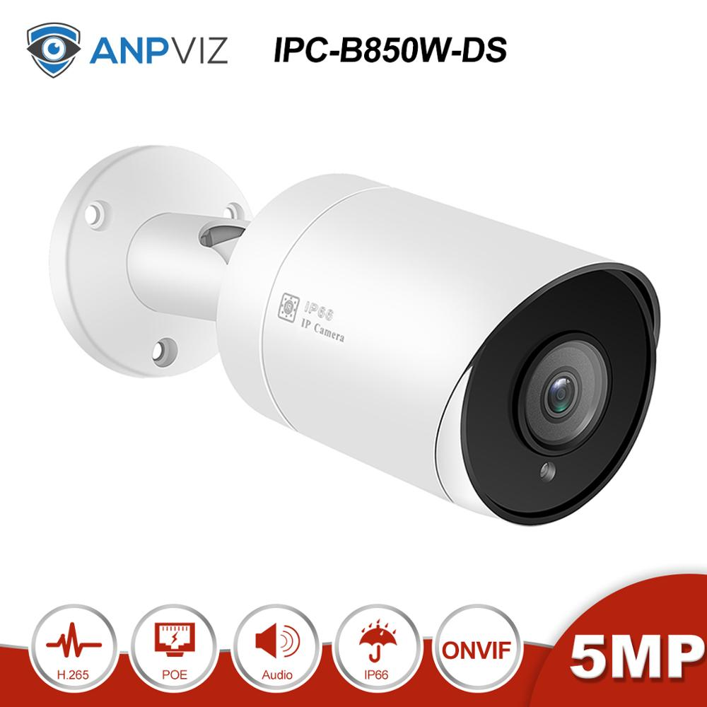 Anpviz (Hikvision Kompatibel) IPC-B850W 5MP POE Gewehrkugel Ip-kamera Mit Audio SD Karte Slot Outdoor Nachtsicht 98ft ONVIF H.265