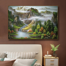 Chinese style Landscape Canvas Painting Wall Posters Prints Kids Room Photo For Living Room Interior Unframed interior landscape