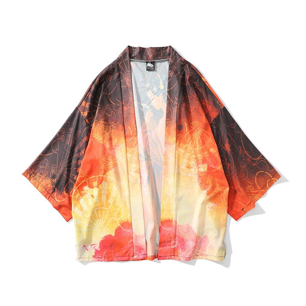 Men Loose Hip Hop Shirt Harajuku Japanese Shirt Short Sleeve Top Hawaiian Shirt Casual Streetwear Thin Summer 2019 May2