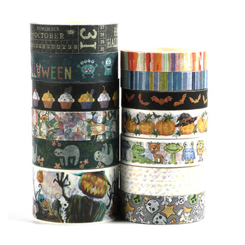 NEW ghost, pumkin,tombs,monster halloween washi tape Adhesive  school supply scoular anderson ghost docs at school
