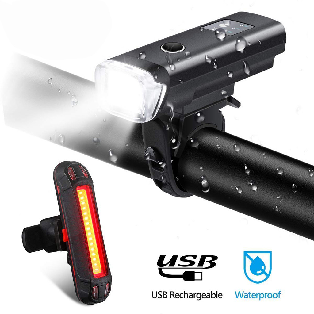 NEWBOLER Smart Induction Bicycle Front <font><b>Light</b></font> <font><b>Set</b></font> <font><b>USB</b></font> Rechargeable Rear <font><b>Light</b></font> LED Headlight <font><b>Bike</b></font> Lamp Cycling FlashLight For <font><b>Bike</b></font> image