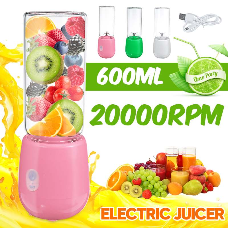 Portable Electric Fruit Juicer Bottle Blender USB Rechargeable Mini Food Mixer Extractor Smoothie Shakes Maker Cup